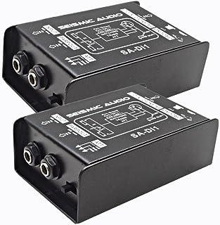 Seismic Audio - Pair of Passive Direct Box w/Ground Left and Attenuator Switch DI Box