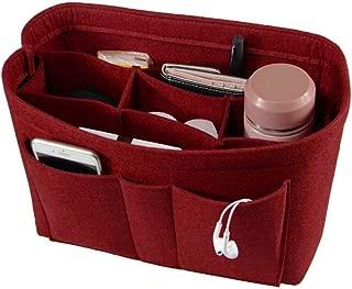 Povinmos Felt Organizer Bag Closet Organizer Cosmetic Storage Bag Home Folding Wardrobe Organizer Office Desk Jewelry Makeup Bag