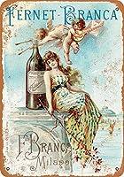 1889フェルネットブランカリキュール2金属レトロな壁の装飾ティンサインバー、カフェ、家の装飾