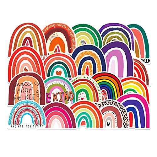 50 pegatinas de puente de arcoíris frescas pequeñas pegatinas de graffiti Diy maleta guitarra pegatinas impermeables para coche