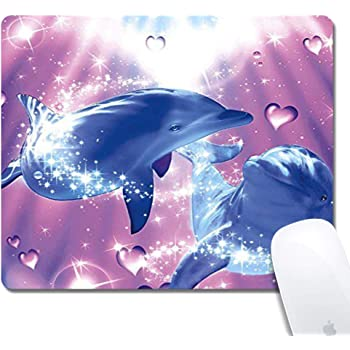 Funny Doodle Fish Personalized Mouse Pad with Edge Stitching Extra Long Mouse Pad 29.5x15.8In Office Home Game Extended Pad Keyboard Pad Waterproof Non-Slip Base