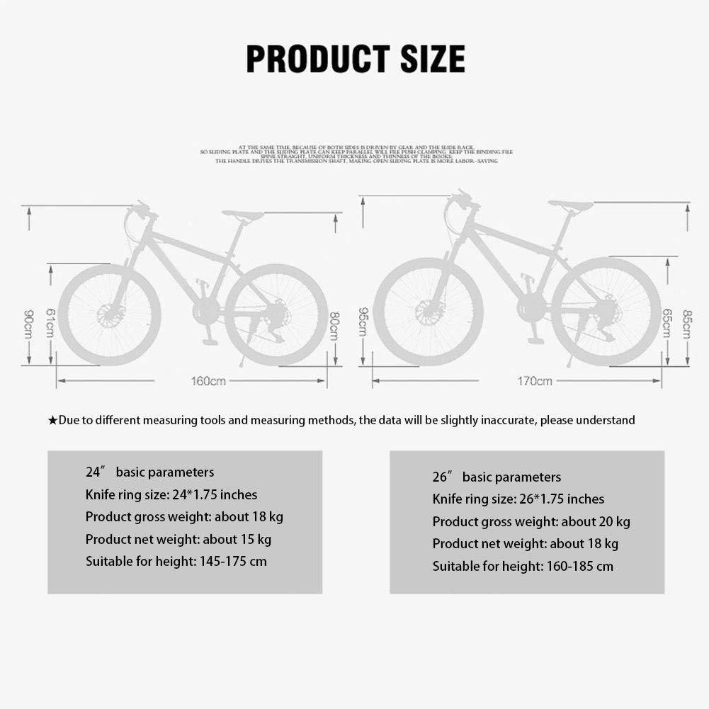 XIYAN Varón y Hembra Variable Velocidad de la Bicicleta, 24/26 ...