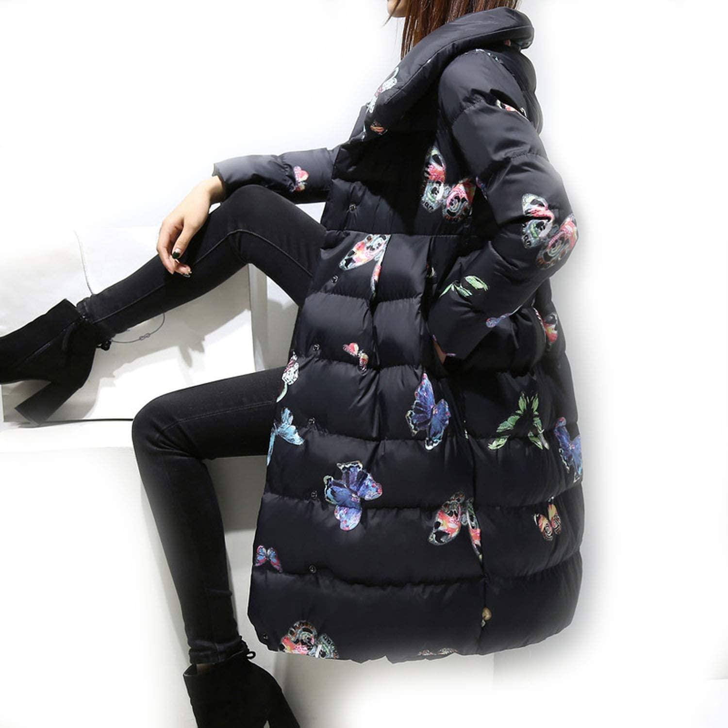 colorful Dream 2019 New Winter Women Coat Fashion Thick Down Cotton Jacket Casual Jacket Length Warm Cotton