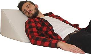 Almohada en forma de cuña, Soporte para la espalda en la cama, sala o el sofá / Almohada para leer o ver televisión Medidas: 60 x 50 cm, Altura: 30 cm - Color Blanco