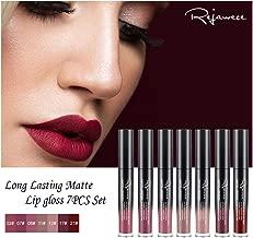Lip Gloss Set by Rejawece - Waterproof Long Lasting Matte Lip Gloss Liquid Lipstick Set Beauty Makeup Cosmetics Lip Stick Lip Glosses Set of 7 Colors