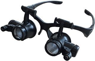 Gafas Lupa Con Luz LED Aumentos Relojero Joyeria Lupa 9892G -10X, 15X, 20X, 25X