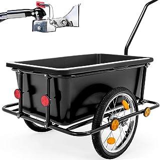 comprar comparacion Deuba Remolque para bicicletas para carga de equipaje máx.80Kg 90L 78x61x50cm Negro carretilla de transporte cargamento