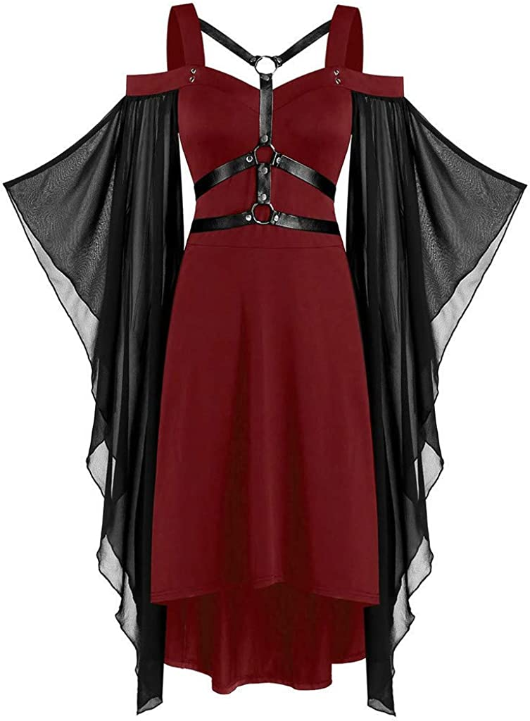Women's Gothic Gorgeous Criss Cross Straps Cosplay Halloween Dresses Vict Ranking TOP14