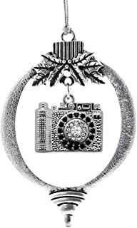 Inspired Silver - 1.0 Carat Vintage Camera Charm Ornament - Silver Customized Charm Holiday Ornaments with Cubic Zirconia Jewelry