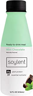 Soylent Mint Chocolate Plant Protein Meal Replacement Shake, 14 fl oz, 12 Bottles - Packaging May Vary