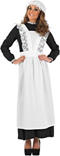 Womens Movie Musical Nanny Costume Adults Historical Servant Dress Uniform