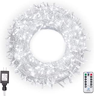 Ollny Christmas Lights 800 LEDs 330ft LED Outdoor String Lights Cool White with Remote Control and Timer Plug in 8 Lighting Modes for Wedding Party Christmas Decoration Lights NOT CONNECTABLE