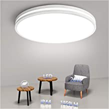 Ceiling Light Fixture Flush Mount LED Daylight White 10.2inch, Airand 20W 1850 LM Round Lighting Fixture Modern Ceiling la...