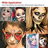 Professional Body Art Face Painting Kit Water Based Removable Body Paints 15 Colors Palette with 2 Paintbrushes and 4 Templates for Halloween Costume Makeup Themed Party Supplies