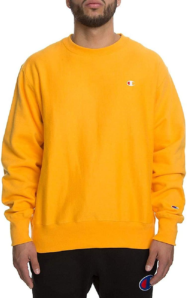 CHAMPION Crew Neck Sweatshirt Fall Gold Mens Size UK XXL *REF195