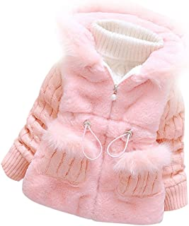 9a058869ea6 Ancia Baby Girls Infant Winter Knited Fur Outerwear Coats Snowsuit Jackets