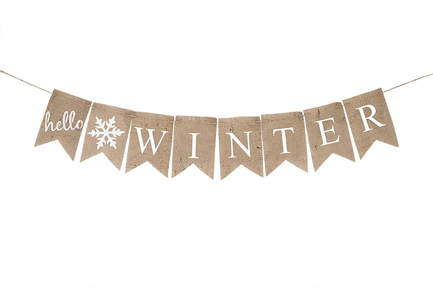 Hello Winter Banner Seasonal Home Cash special price store Christmas Decoration or