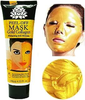 24k Gold Collagen Peel-off Facial Mask Whitening Anti-Wrinkle Face Masks Skin Care Face Lifting Firming Moisturize 4.22 Fl.oz