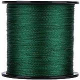 Aeloa 1pc Línea de Pesca PE Trenzado 4 hebras Cable de Cuerda de Pescado multifilamento (500m)(2-Verde)