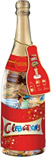 CELEBRATIONS Chocolate Variety Mix Holiday Candy Bars, 21.37-ounce Christmas Gift Champagne Bottle (DOVE, TWIX, SNICKERS, BOUNTY & MILKY WAY)