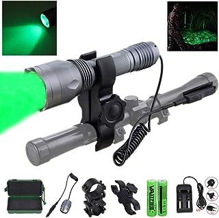 VASTFIRE 350 Yard LED Green Flashlight Kit Hog Coyote...