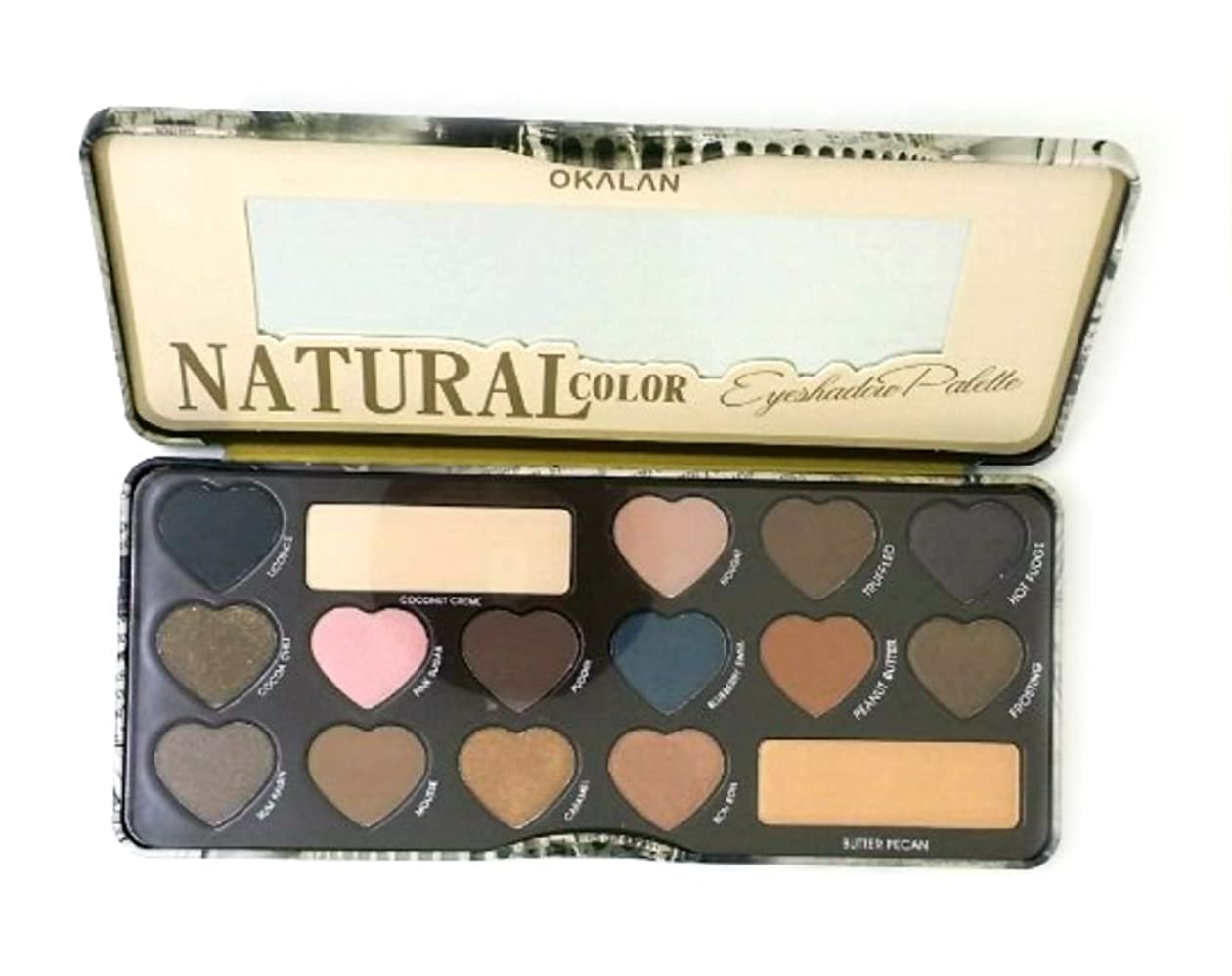 薬理学分析的なカセットOKALAN Natural Color Eyeshadow Palette B Display Set, 6 Pieces (並行輸入品)