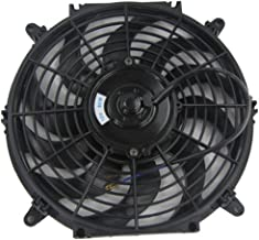 ALLOYWORKS 9 Inch Pull/Push Electric Radiator Cooling Fan with Thermo Curved Blade (12v Black)