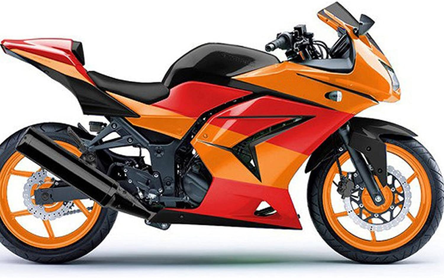 Advanblack ABS Injection Fairing Plastic Kits for 2008 2009 2010 2011 2012 Kawasaki Ninja 250R EX250