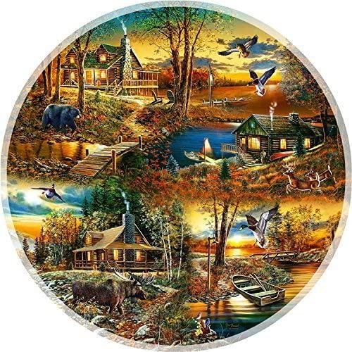 Cabins in the Woods - A 1000 Piece Jigsaw Puzzle by SunsOut by SunsOut