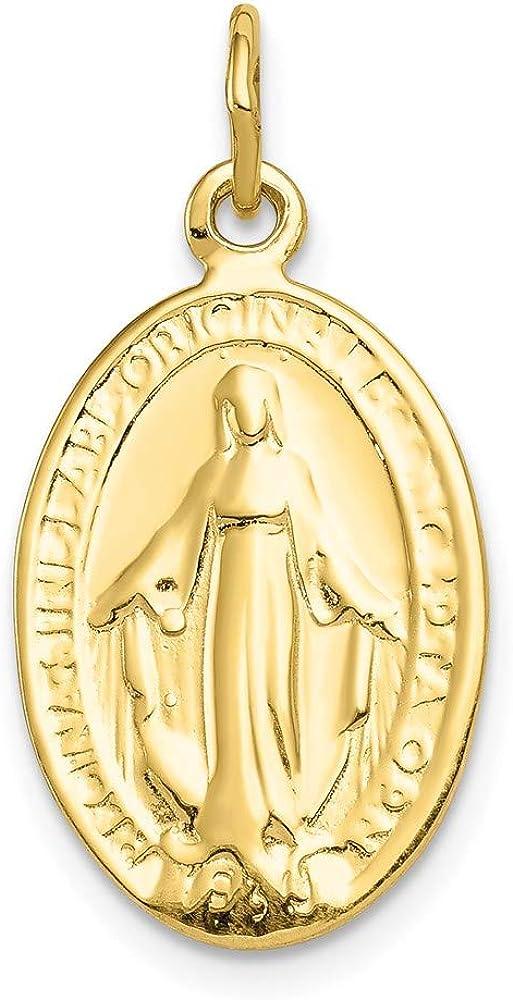 10k Yellow Gold MIRACULOUS Gorgeous Philadelphia Mall Pendant Medal