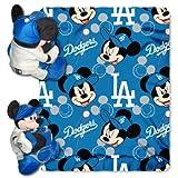 MLB Los Angeles Dodgers Mickey Hugger & Fleece Throw Blanket Set, 40' x 50'