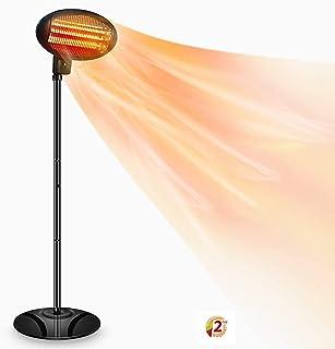 SOARRUCY Patio Heater Electric Outdoor Heater- 1500W 3 Adjustable Power Level Outdoor Infrared Heater w/Tip Over & Overhea...