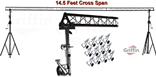 Crank Up Triangle Light Truss System by Griffin|DJ Trussing Stand for Light Cans & Speakers|Pro Audio Stage Lighting Hardw...