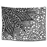 Tapicería Minimalista en Blanco y Negro decoración del hogar Pintura nórdica Estilo Creativo Tela Colgante Fondo geométrico Tela