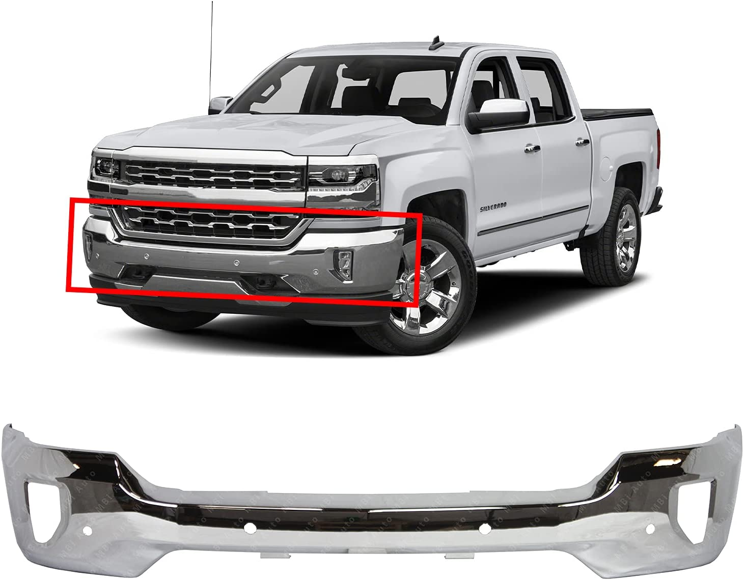 Buy Bumpers That Deliver Chrome Steel Front Bumper Face Bar Compatible With 2016 2018 Chevy Silverado 1500 W Fog Park Assist 16 18 Gm1002862 Online In Indonesia B07yq47pdt