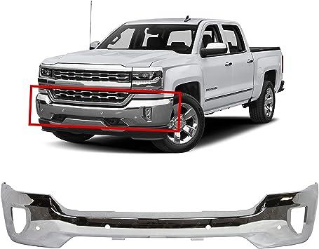 Amazon Com Bumpers That Deliver Chrome Steel Front Bumper Face Bar Compatible With 2016 2018 Chevy Silverado 1500 W Fog Park Assist 16 18 Gm1002862 Automotive