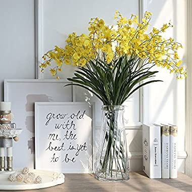 Noah Decoration Hand Made and Hand-blown Euro Transparent Crystal Flower and Filler Glass Vase for Home and Wedding Indoor and Outdoor Decoration Size Tall