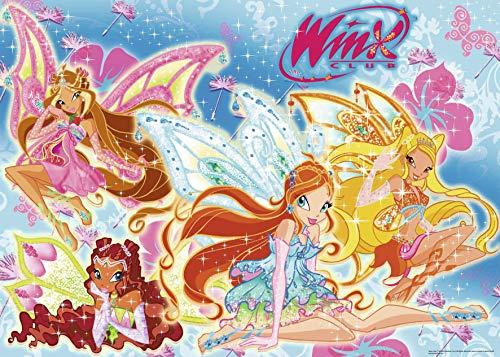 Winx–Flora, Aisha, Bloom und Stella, Ravensburger Puzzle 24Teile (071203)