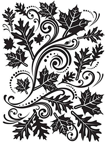 Darice 1218-33 Embossing Folder-Classeur de Gaufrage-Modèle Feuille d'automne-10,8 x 14,6 cm, Plastique, Transparent, 10,8 x 14,6 x 0,3 cm