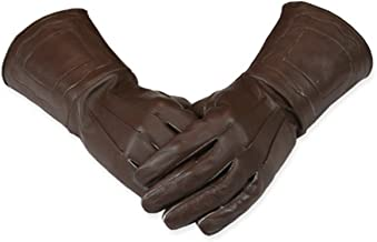 cowboy leather gauntlets