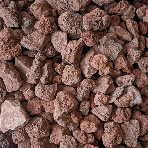 """Midwest Hearth Lava Rock for Fire Pits and Gas Log Sets, Red 1/2"""" to 2"""" (10-lb Bag)"""