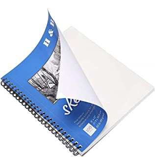 Glitz A4 Sketchbook, Paper Pad, Notebook, Acid Free White Paper 200 Pages (100 Leaves)