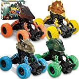 Dinosaur Toys for 3-7 Year Old Boys, 4 Pack Pull Back Dinosaur Cars Toys for 3 Year Old Boys Kids...