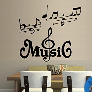 VVWV Music Wall Sticker Music and Quote Home Decor Art Quote Decals Wall Art Stickers Dance Studio Decor Art Sticker Alway...