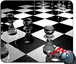 ZMvise Chess Board Glass Black and White Surface Fashion Cartoon Mouse Pad Mat Custom Rectangle Gaming Mousepad