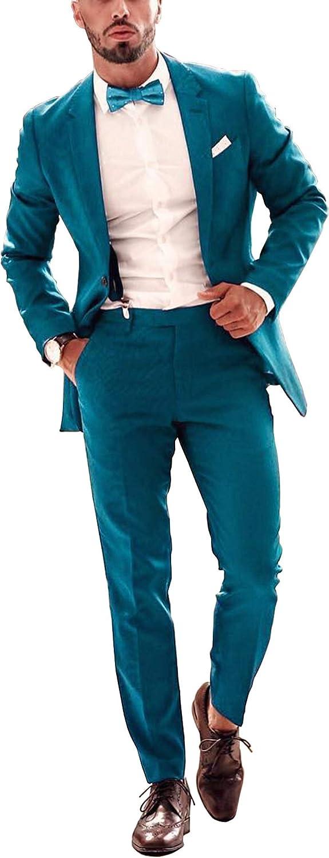 Men's Green Suits Slim fit 2-Piece Suit Jackets Casual Business Blazer Wedding Party Bespoke Suit Morning Suits