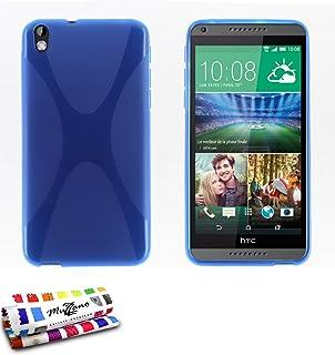 """MUZZANO Original""""Le X"""" Premium Flexible Shell Case for HTC Desire 800 - Blue"""