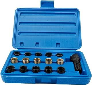 Spark Plug Repair Kit, 16Pcs Spark Plug Tap Thread Repair Tools M14 X 1.25 Rethreading Kit with Portable Case