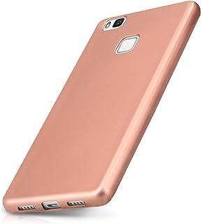 kwmobile Funda para Huawei P9 Lite - Carcasa para móvil en TPU Silicona - Protector Trasero en Oro Rosa Metalizado