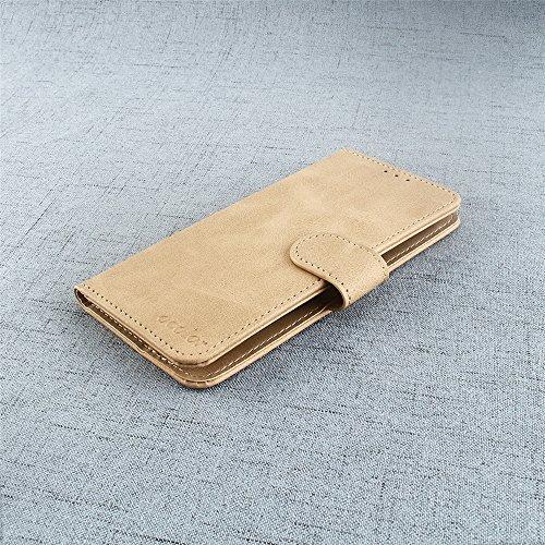 95Street Handyhülle für Blackview P6000 Schutzhülle Book Case für Blackview P6000, Hülle Klapphülle Tasche im Retro Design mit Praktischer Aufstellfunktion - Etui Gelb
